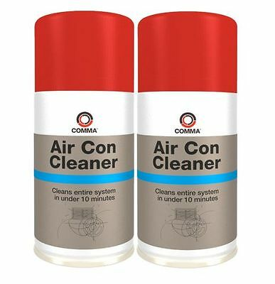 2 x COMMA AIR CON CLEANER 150ml AEROSOL ELIMINATES BACTERIA SMELLS & ODOUR AIRCC