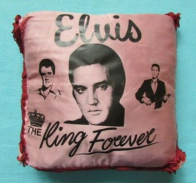 Fab Rare Vintage Elvis Presley *the King Forever* Plush Scatter Cushion