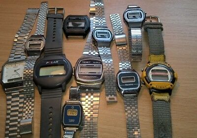 A Job Lot of Vintage / Retro Digital Watches. Spares or Repair
