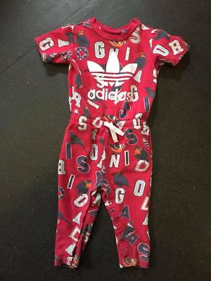 adidas tracksuit size 18 to 24 months jumpsuit romper