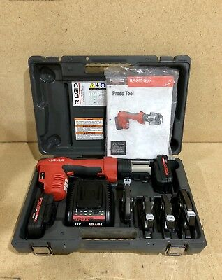 Ridgid Propress RP 200 w/Charger, 4x Jaws, 2x Batteries and Case.