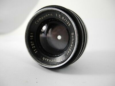 Schneider Componon 135mm 5.6 lens BLACK CHROME GREAT FOR B&W PRINTS