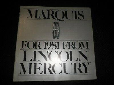VINTAGE 1981 LINCOLN MERCURY MARQUIS DEALER SALES BROCHURE ORIGINAL  15 pages