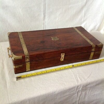 Fabulous Old Collectors/ Gun Box? With Brass Fittings