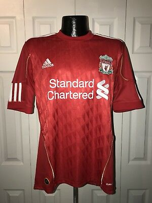 Men's Standard Chartered ADIDAS Liverpool Football Club Soccer Jersey S Red NWOT
