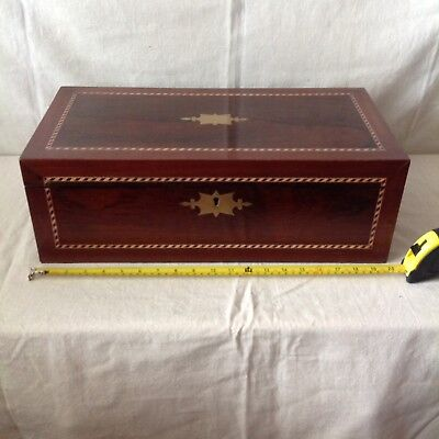 Handsome Large Victorian Writing Slope With Secret Drawers