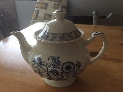j and g meakin Nordic blue tea pot