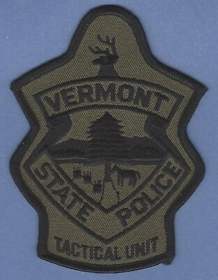 Vermont State Police Police Tactical Unit Patch