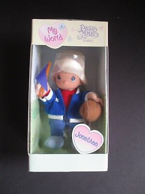 "Precious Moments ""my World"" Doll 1999  Jonathan  New In Box"