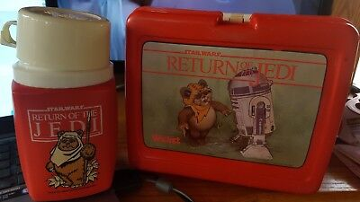 Star Wars  Return of the Jedi Wicket R2D2 Lunch Box and Thermos BACK TO SCHOOL