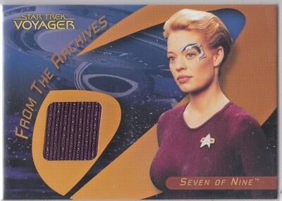 Star Trek 40Th Anniversary C25 Jeri Ryan As Seven Of Nine Costume Insert Card