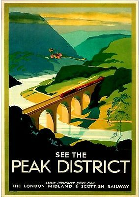 A3 Size - see the Peak District GIFT / WALL DECOR  ART POSTER