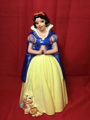 "Disney Snow White Cookie Jar 15"" Tall Stamped Mexico on Bottom"