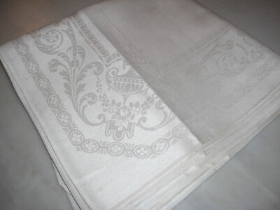 8 Crisp White Unused Vintage Linen Napkins
