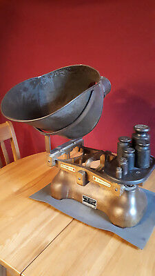 Vintage W&T Avery Ltd scale together with metric weights.