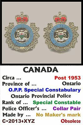 Collar Pair • Canada • ON - Ont' Prov' Pol' Special Const' • 1953+ • C•2013•XYZ