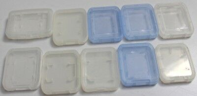 10x plastic memory card cases for SD cards