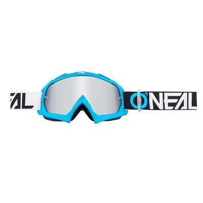 O'Neal B 10 Goggle Twoface Mirror Silver Crossbrille MX Endurobrille blue
