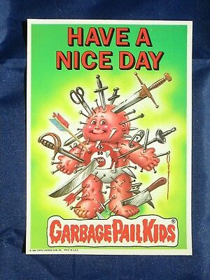 """Vintage Topps """"Have A Nice Day"""" GARBAGE PAIL KIDS Giant Sticker - NM"""