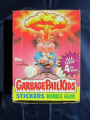 Vintage Topps GARBAGE PAIL KIDS Stickers Bubble Gum 4rd Series - Full Box