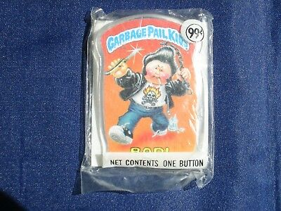Vintage Garbage Pail Kids Button BAD! - Sealed