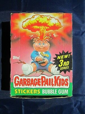 Vintage Topps GARBAGE PAIL KIDS Stickers Bubble Gum 3rd Series - Full Box