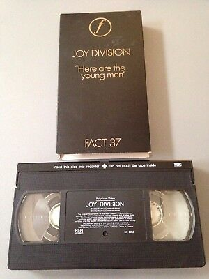 Joy Division VINTAGE VHS Here Are the Young Men Factory Records Ian Curtis