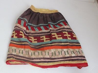 Antique Seminole Small Child's Skirt Native American Patchwork.