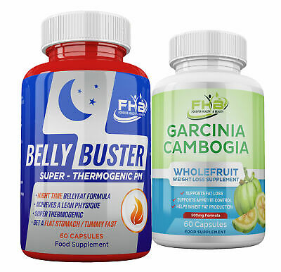LOSE BELLY FAT FAST Belly Buster + Garcinia Cambogia Diet Pills FAST WEIGHT LOSS