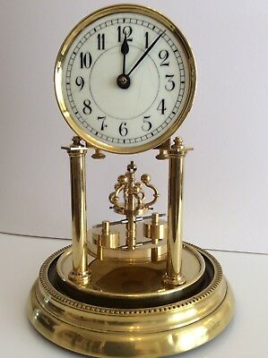 Rare Wurth 400 Day Anniversary Torsion Clock with Crown Disc Pendulum