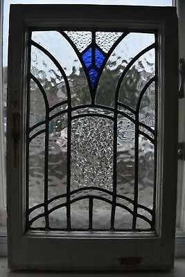 1 art deco leaded light stained glass window panel. B814. DELIVERY!