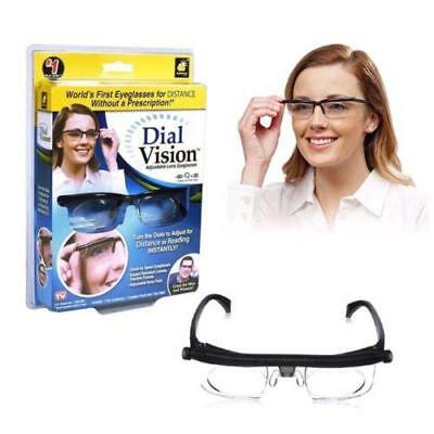 Adjustable Reading Glasses Strength Lens Eyewear Variable Focus Dial Vision Zoom