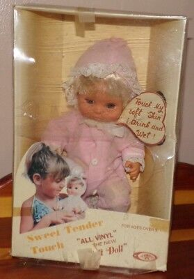 """vintage Baby Doll ~ Playmates ~ Sweet Tender Touch ~ 10"""" Vinyl ~ New in Box"""