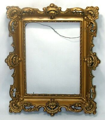 FINE 1800s ORNATE WOOD & GESSO GOLD GILDED FRAME -ROCOCO BAROQUE - #2 -WOW! NR!