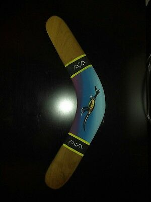 Brigalow Souvenir Boomerang. Native Timbers Crafted & Hand Painted in Australia.