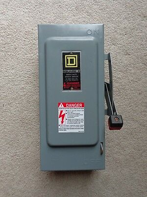 Square D Heavy Duty Safety Switch Disconnect 30 Amp 240v H321N 3 Phase Type  1