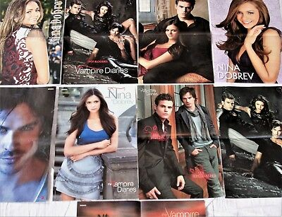 9 THE VAMPIRE DIARIES Poster! collection Sammlung A3 Ian Somerhalder Nina Dobrev