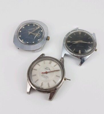 Job Lot Of 3 Vintage Watches Newmark, Lator, Ross Grandprix Spares Repairs