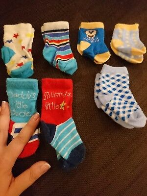 Bundle of newborn boys socks from Next and unknown