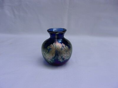 Vintage Studio Art Glass Small Vase / Signed and Dated '56 / Gorgeous!