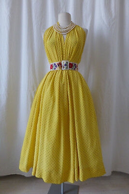 Vintage Authentique Robe De Cocktail Années 1950