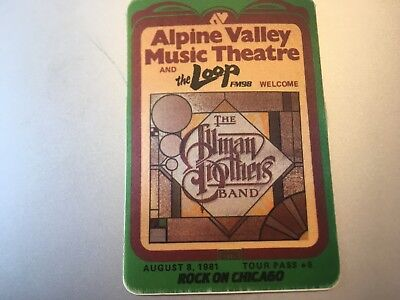 Allman Brothers Band - The Loop - 1981  - Promo Pass