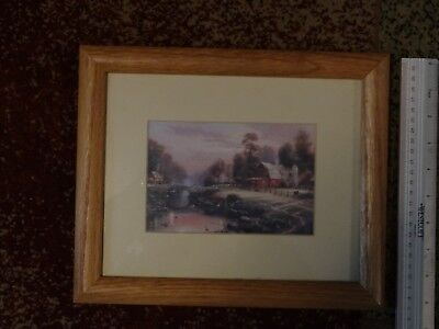 Thomas Kinkade Sunset at Riverbend Farm framed print