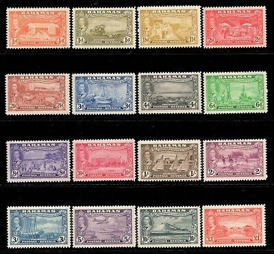 Bahamas 1948 KGVI full set SG 178-193 mint CV £75