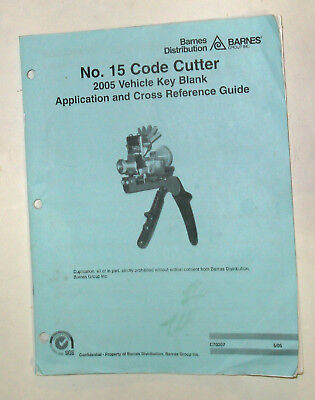 BARNES  - No. 15 CODE CUTTER 2005 VEHICLE REFERENCE GUIDE SC book