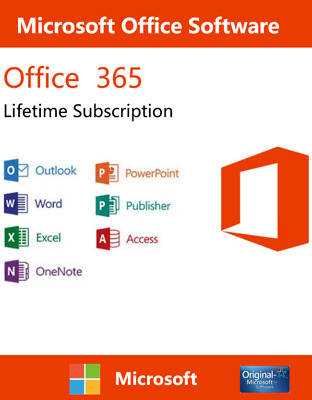 MS Office 2016 Pro 365 Lifetime Account For 5 Users Win ios Mobile 5 TB Onedrive