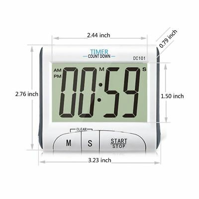 Digital Timer  Count Down or Up Magnetic or Stand Large LCD Loud Alarm Easy Read