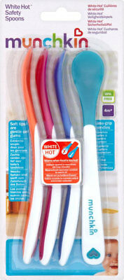 Munchkin White Hot Safety Spoons Soft Tips Are Gentle On Gums BPA Free