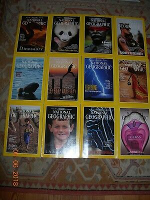 National Geographic Magazines 1993 January - December 12 Copies