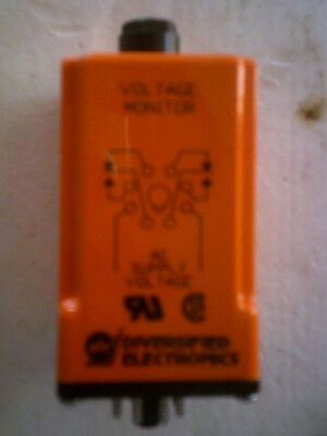 Voltage Monitoring Relay Diversified Electronics UOA-120-ALA, (NEW)
